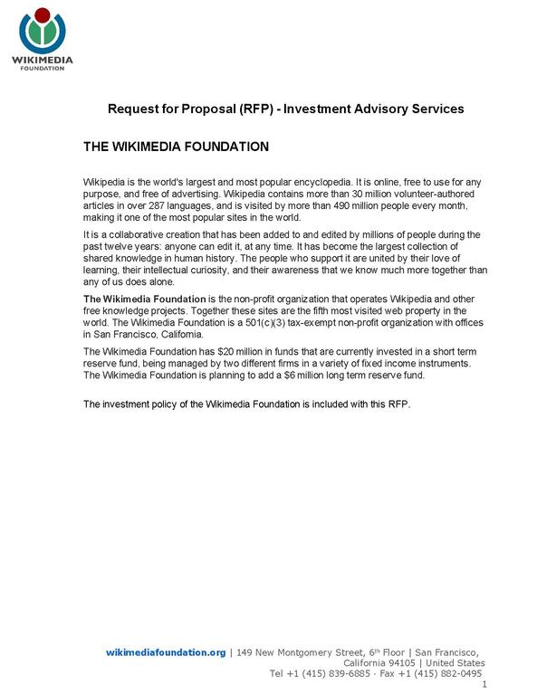 FileWikimedia Foundation Request for Proposal Investment Advisory - proposal letter pdf