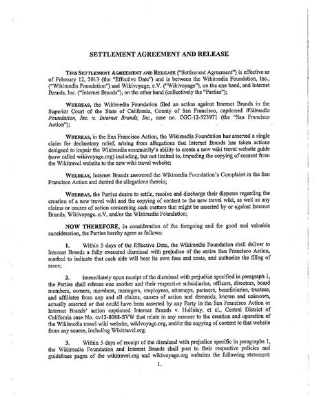 FileWMF IB 021213 Signed Settlement Agreementpdf - Wikimedia