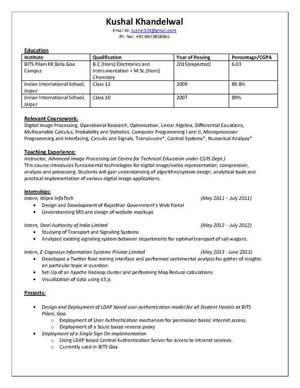 examples of pictures on resume