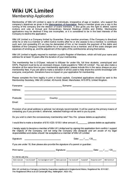 FileWiki UK Ltd membership application formpdf - Meta - general application form