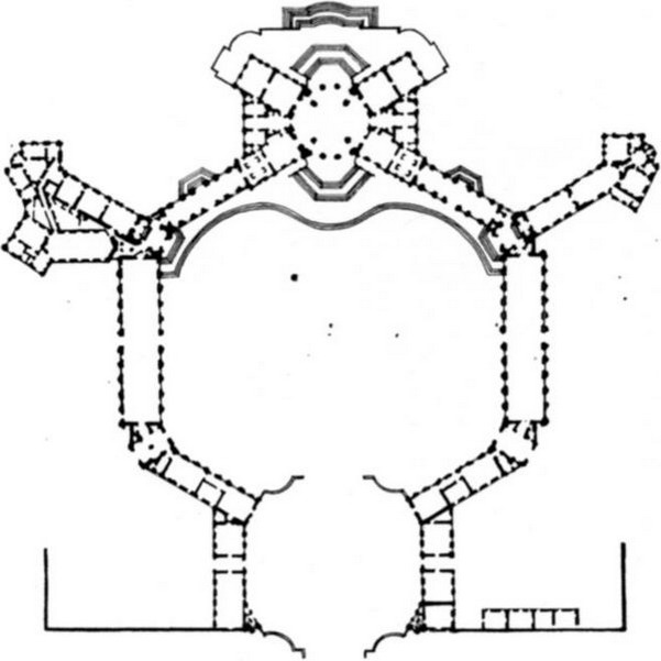ITALIAN BAROQUE ARCHITECTURE, Piedmont; Plan of Royal Palace at - geometric sequence example