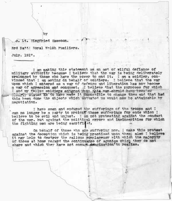 Letters of Note Finished with the War A Soldier\u0027s Declaration