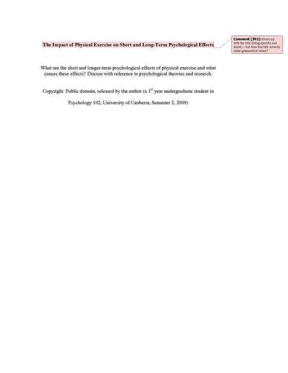 psychological essays file short and long term psychological effects - Short Essays To Read