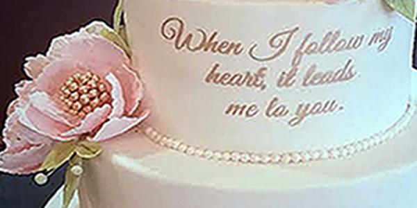 Chart House Weehawken NJ Weddings - Blush  Gold My Daughter\u0027s Cakes