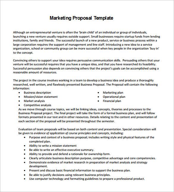 Download Marketing Communications Proposal Template - Bonsai