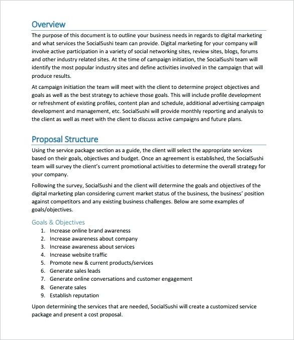 Craft and download a online marketing proposal - Bonsai