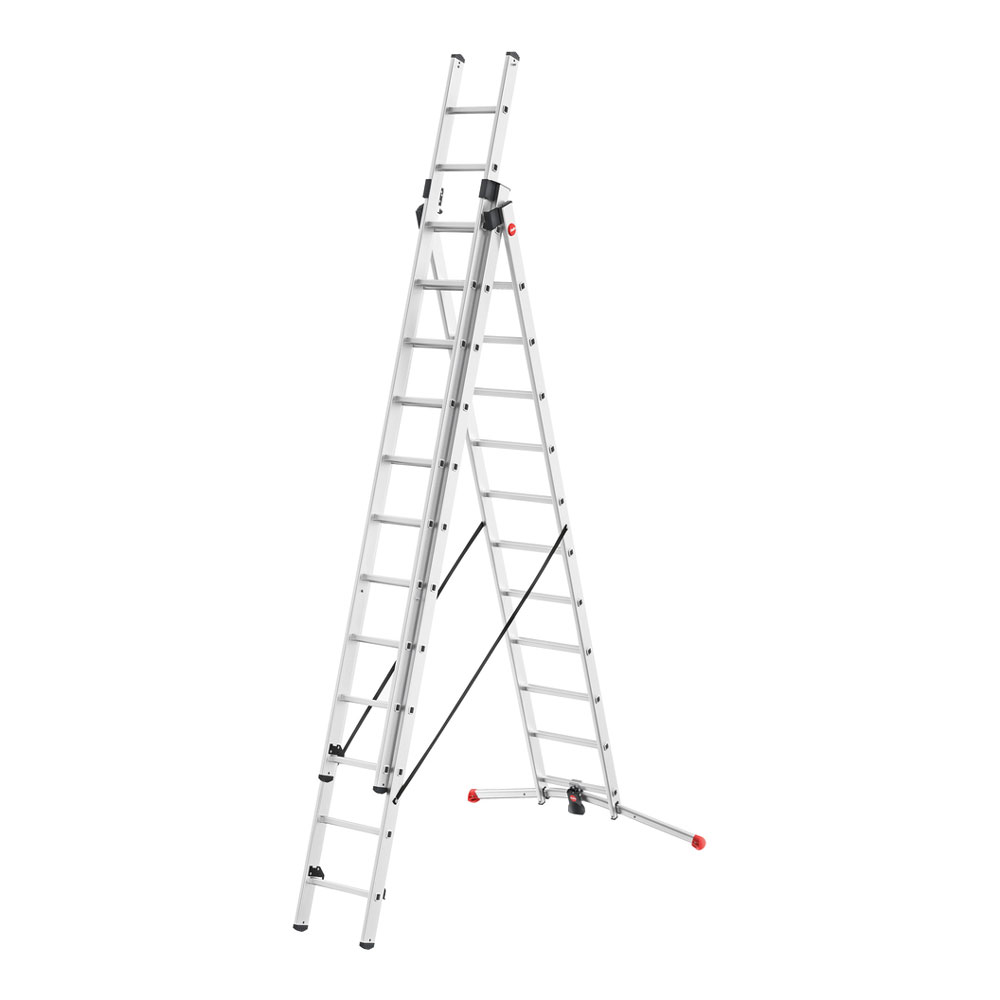 Hailo Profistep 3x12 Hailo Profilot 3 Section Combi Ladder Irish Wire Products
