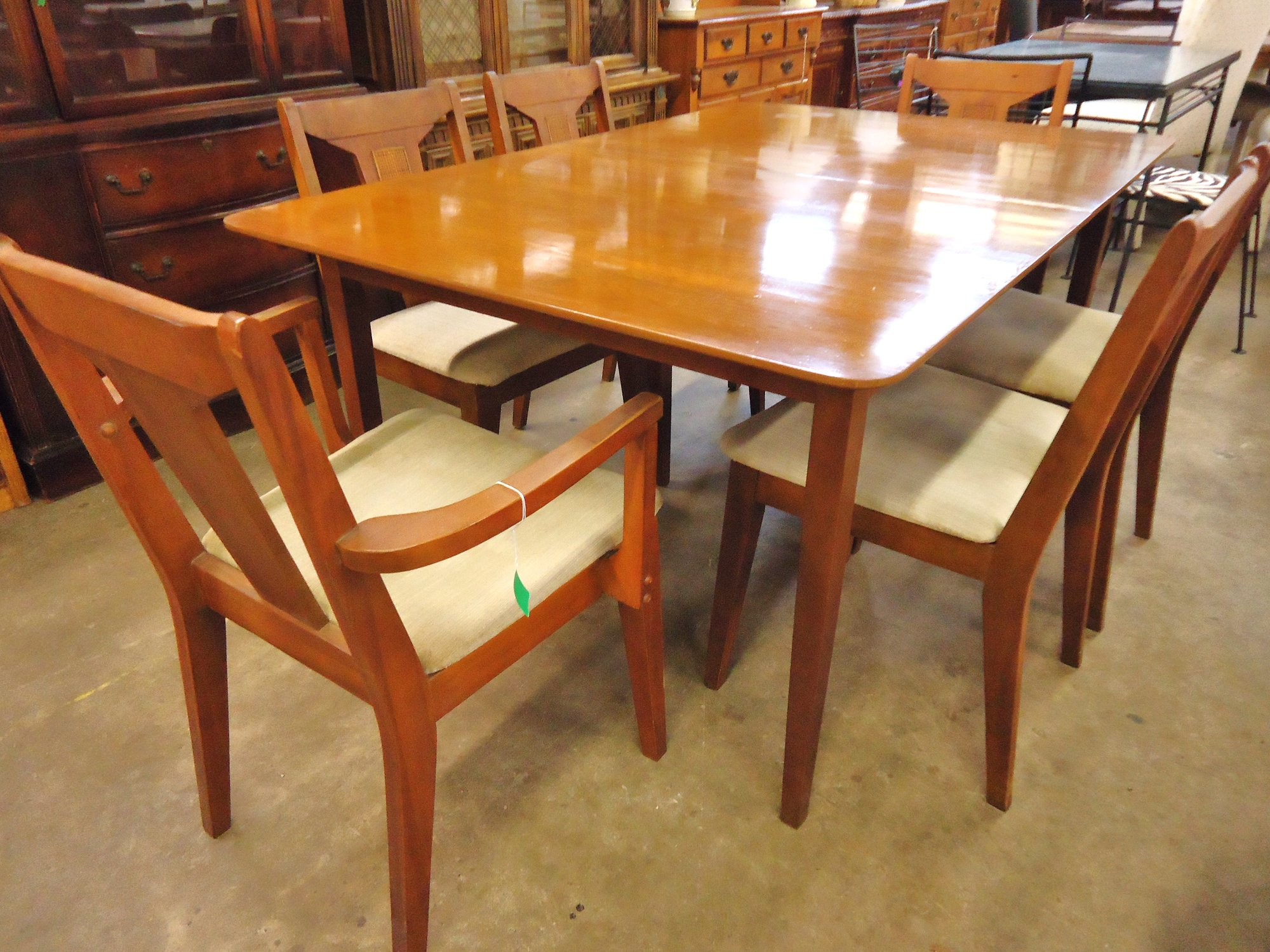 Hidden Kitchen Table 1 14760 Mid Century Dining Room Table With 6 Chairs And 1