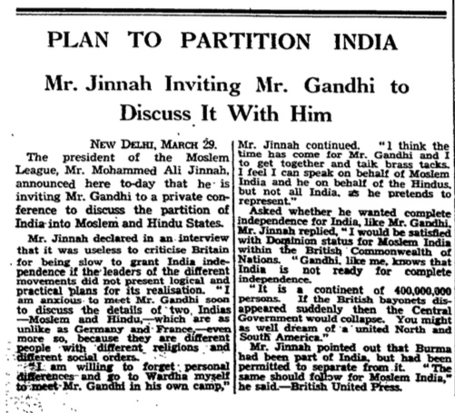 From the archive how the Guardian reported the partition of India