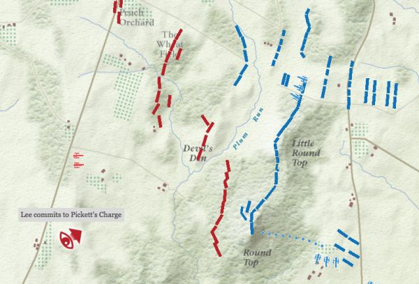 The Battle of Gettysburg Interactive Map - Neatorama - animated maps