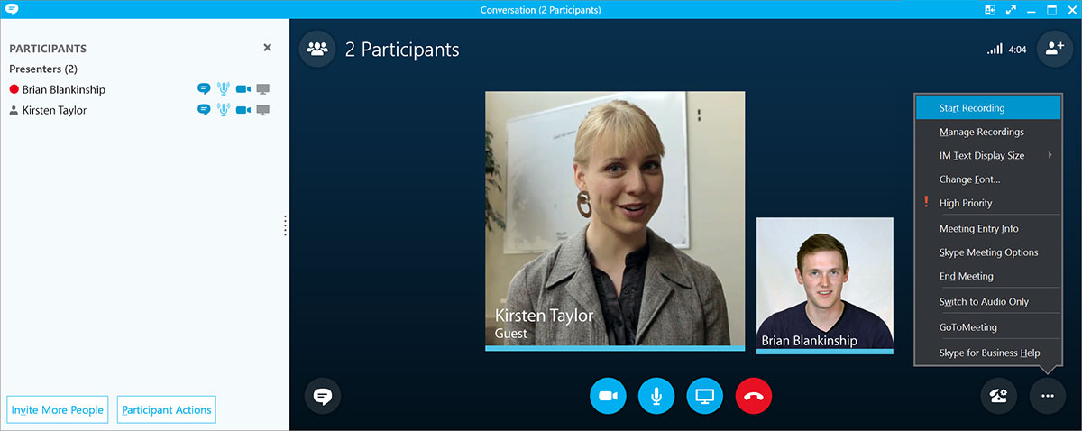 Record, Caption, And Share Skype For Business Meetings With Panopto - Record Skype Video Calls