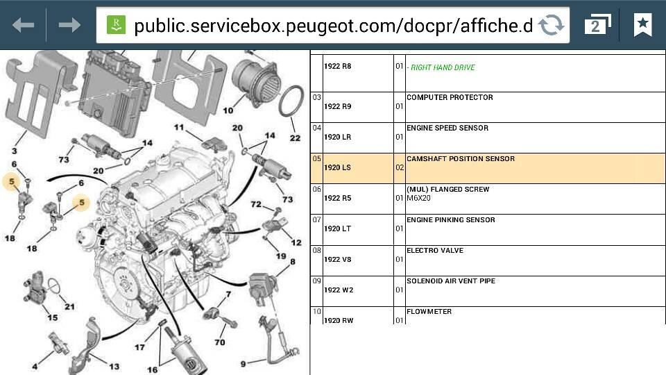 Peugeot RCZ Forum \u2022 P1340 Camshaft position sensor B circuit