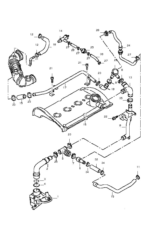 vw 1.8t engine diagram