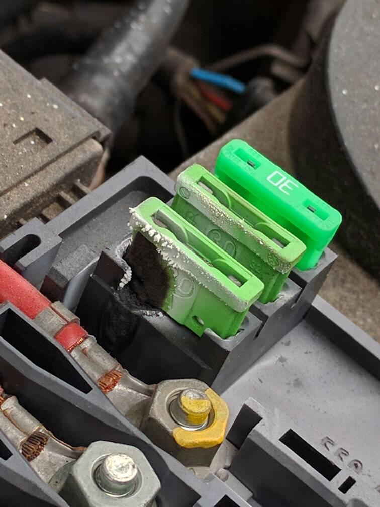 car fuse box short