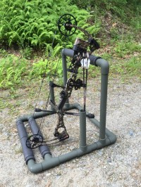 PVC Bow Holder   Bowhunting.com Forums