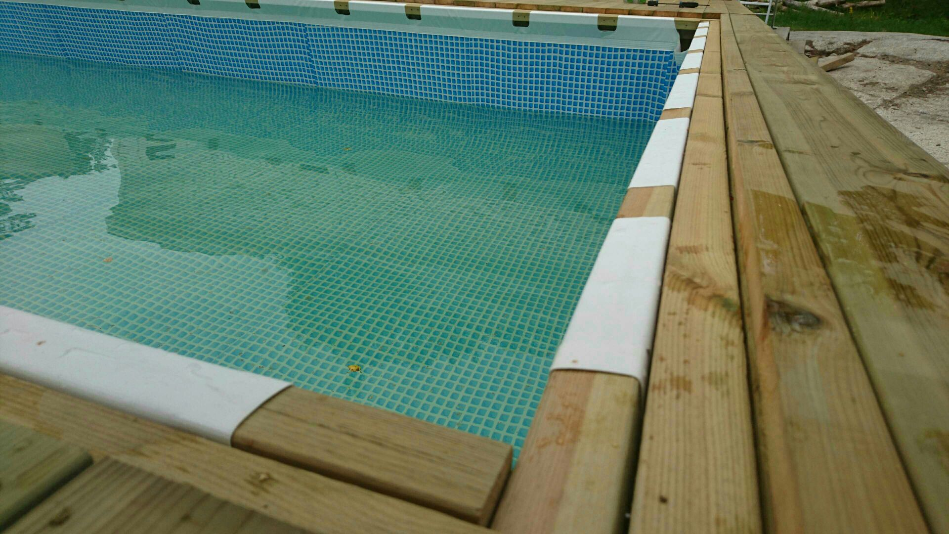 Intex Zwembad Metal Frame Hanging A Rectangular Intex Ultra Frame Pool Directly From