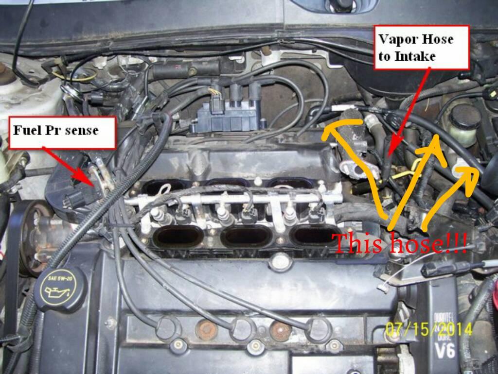 2001 ford taurus sel engine diagram