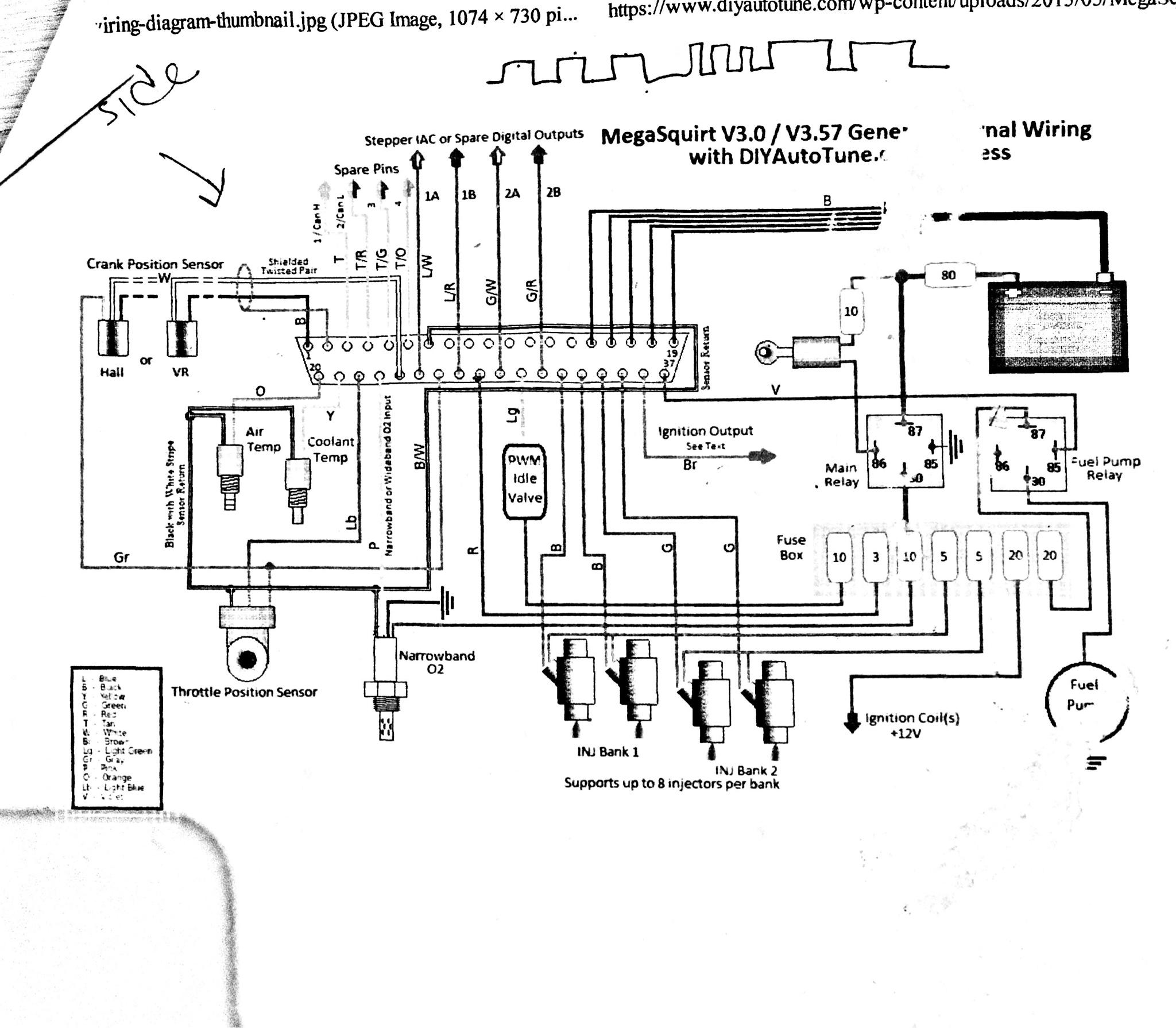 megasquirt ls coil wiring