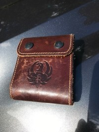 Ruger leather rifle cartridge holder $25 tyd