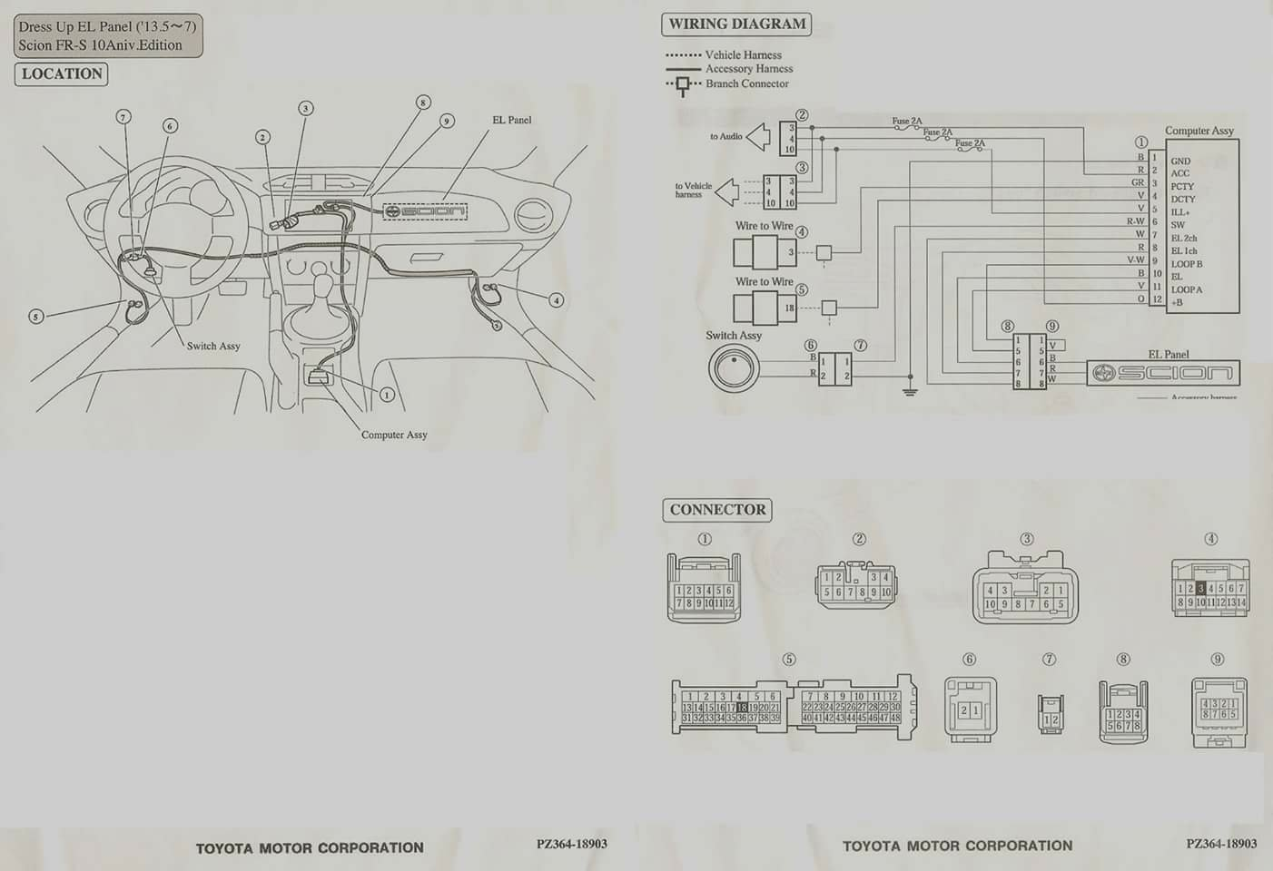 frs headlight wiring diagram