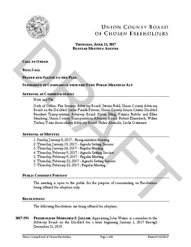 Potential Watchung Reservation Mountain Biking Resolution on Apr 13