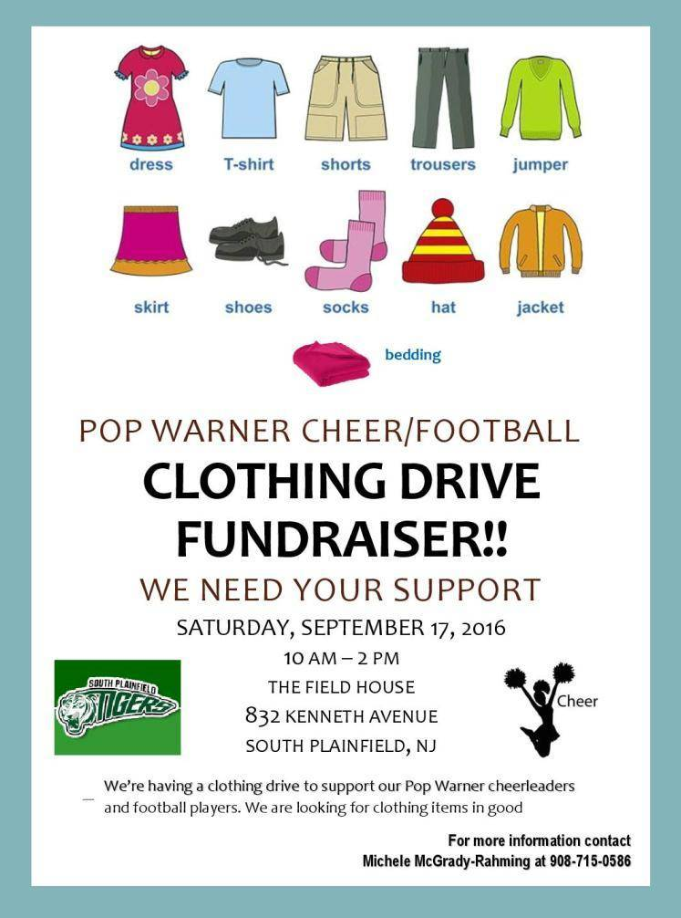 Clothing Drive at Pop Warner - TAPinto - clothing drive flyer template