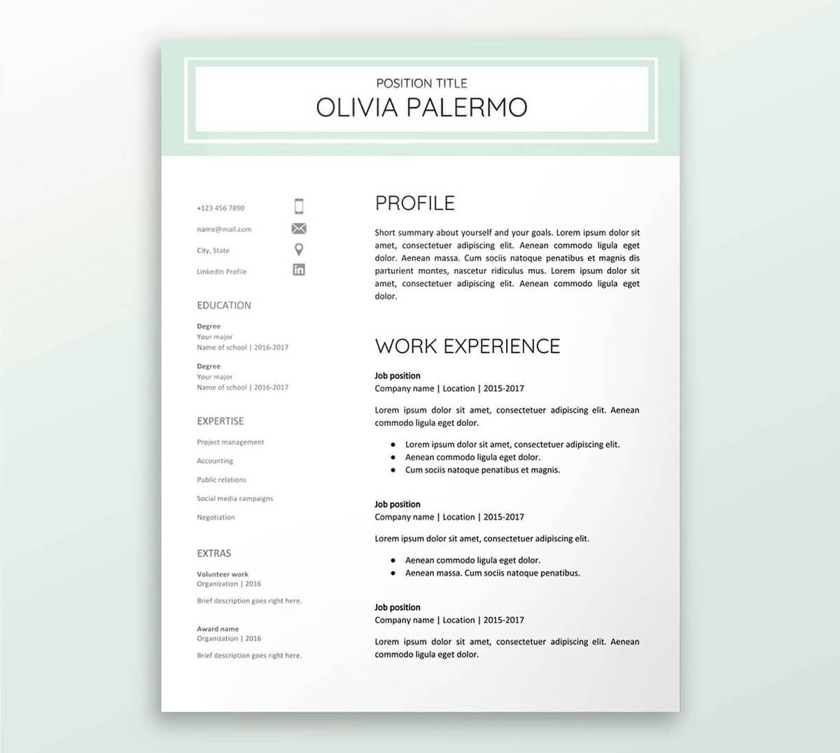 resume templates free google docs