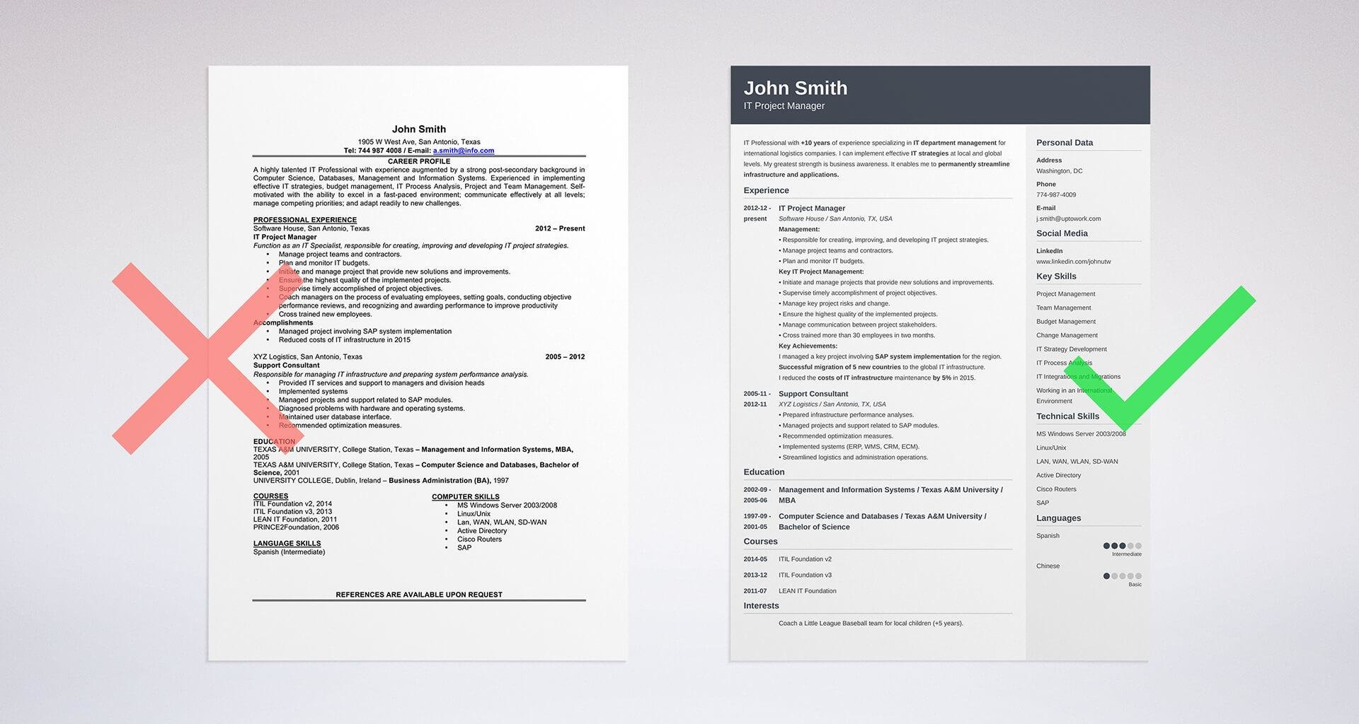 create your first resume online