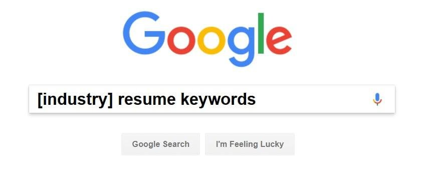 key words in resume guide to list of keywords to use in a resume