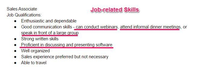job related skills cv - zrom