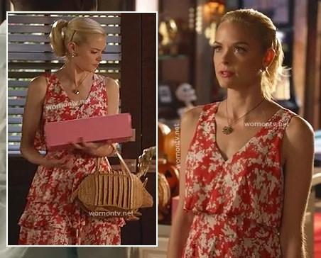 Wornontv Lemons Straw Armadillo Bag And Red Ruffle Dress