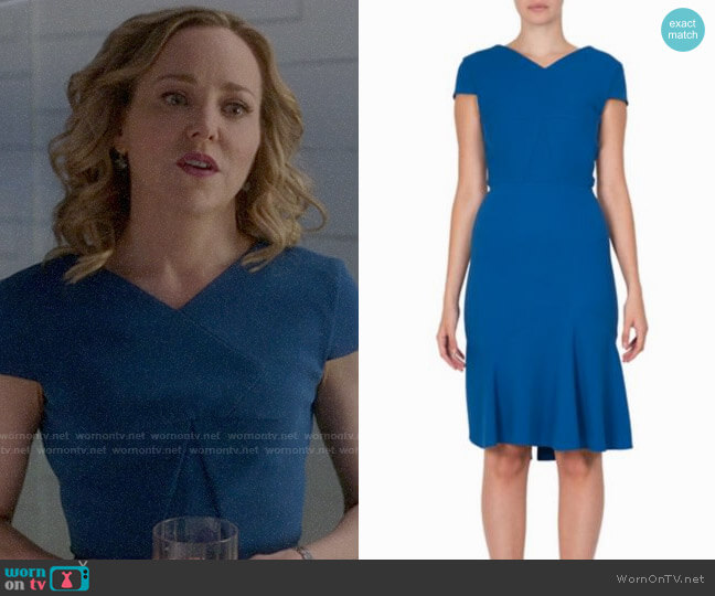 Wornontv Marissas Blue V Neck Dress On Bull Geneva