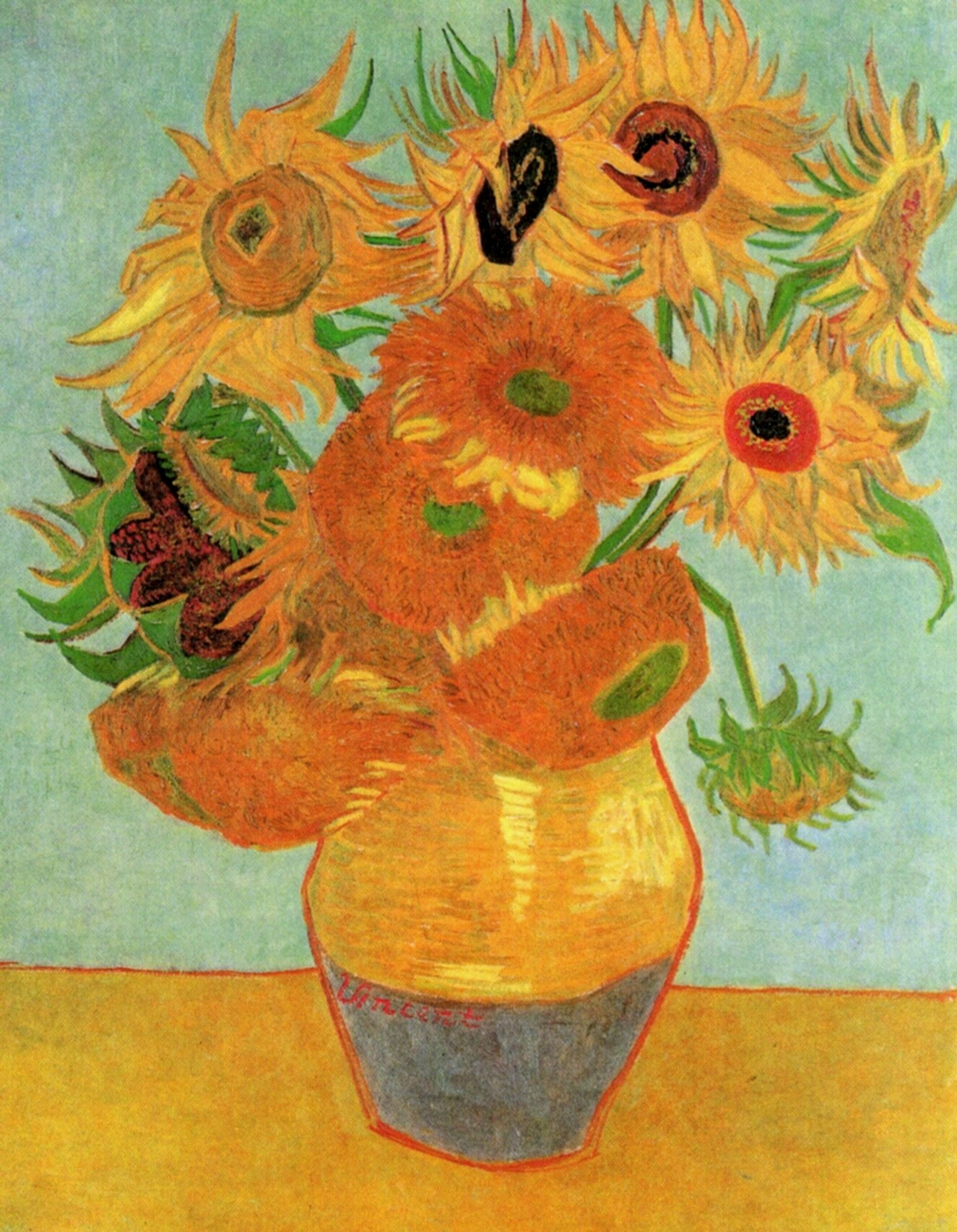 Vincent Van Gogh Paintings Sunflowers Still Life Vase With Twelve Sunflowers C 1889 Vincent