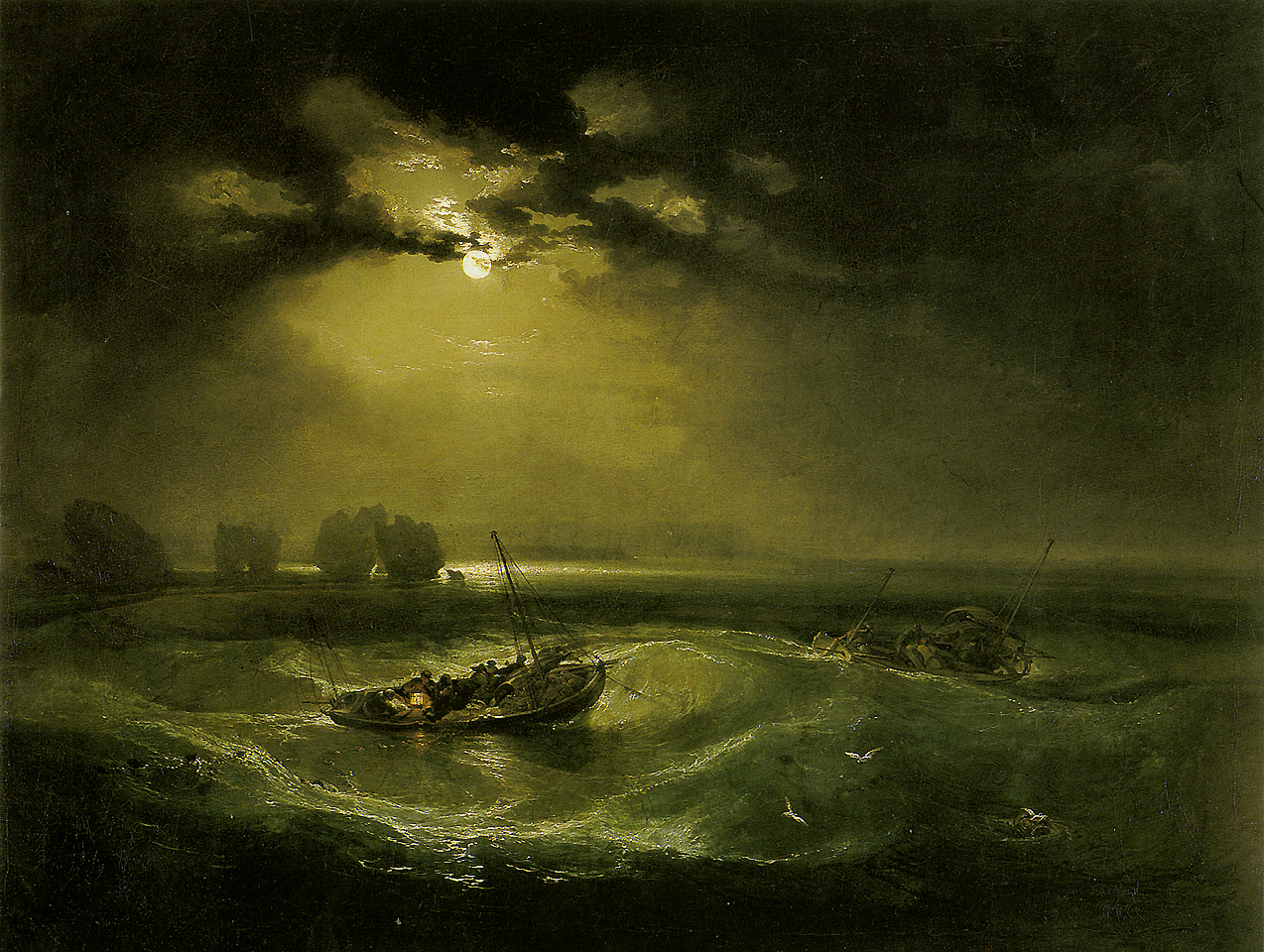 Reproduction Tableau Moderne Sur Toile Fishermen At Sea, C.1796 - William Turner - Wikiart.org