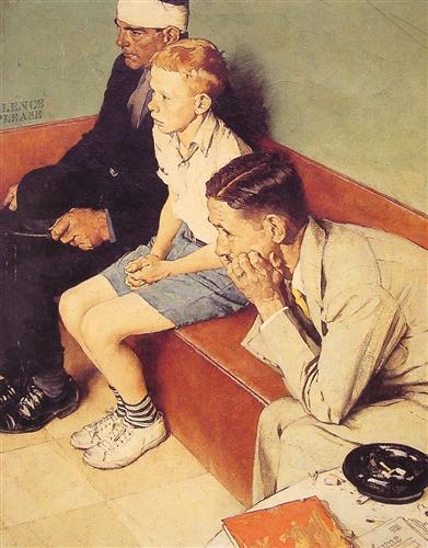 """The Waiting Room,"" Norman Rockwell"