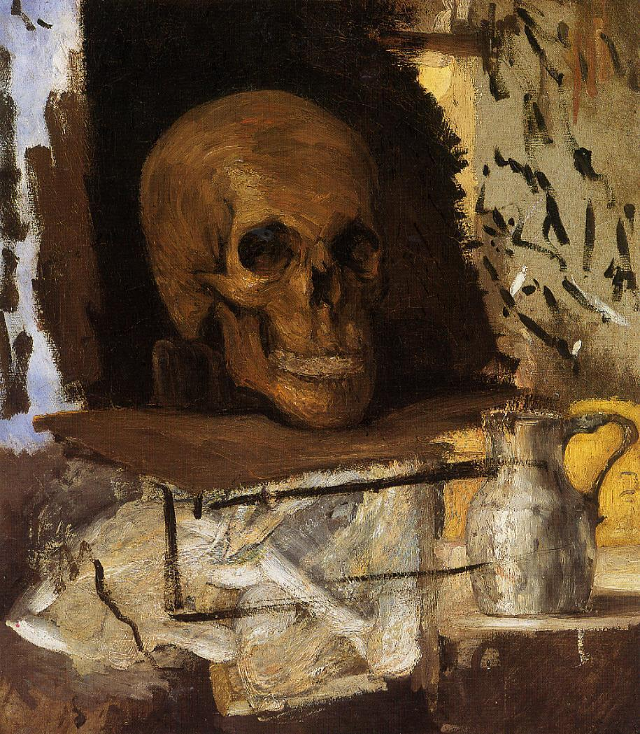 Paul Cezanne Cuadros Still Life Skull And Waterjug, C.1870 - Paul Cezanne