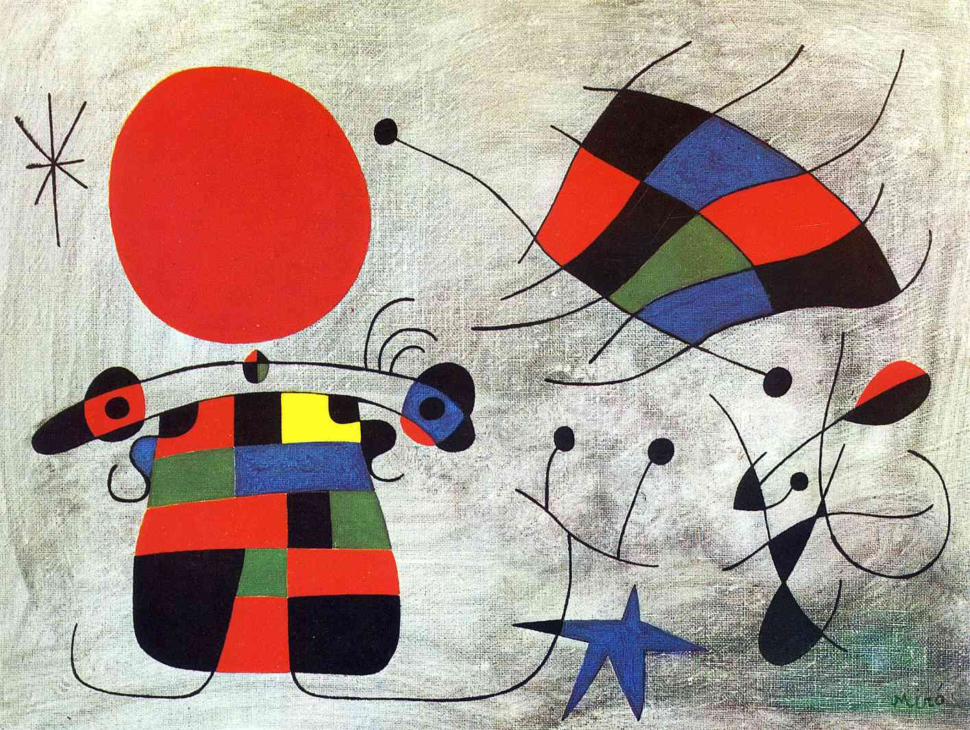 Joan Miro The Smile Of The Flamboyant Wings Joan Miro Wikiart