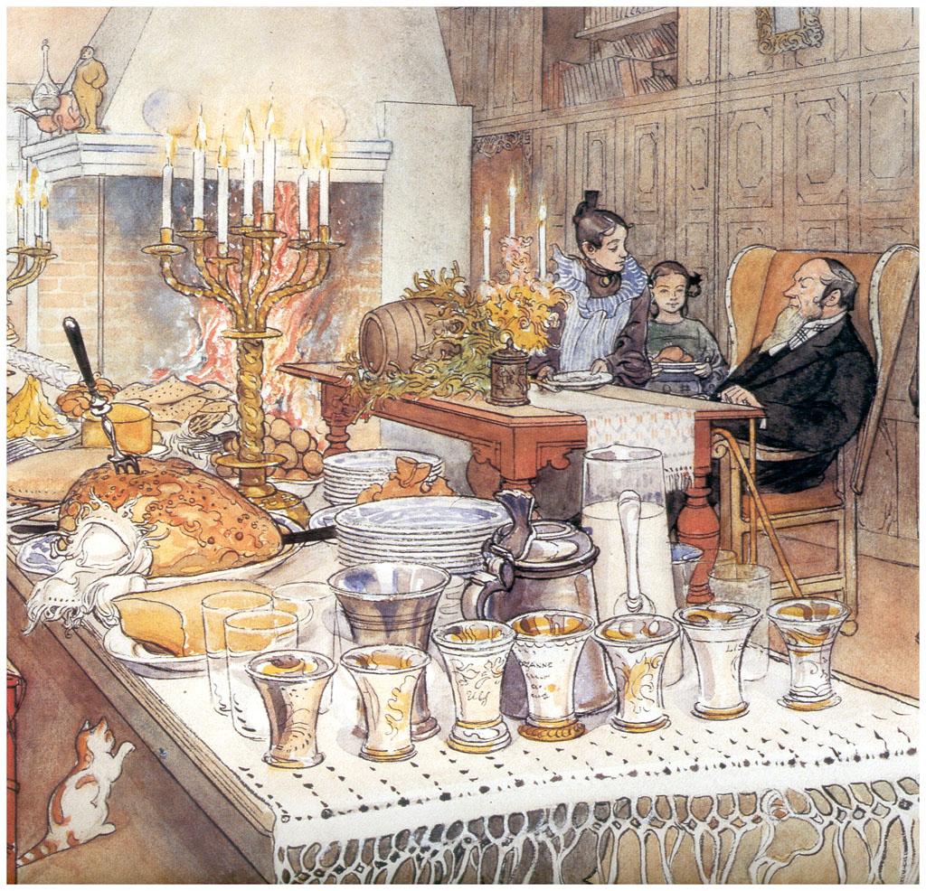 Poster Küche Retro Detail Of Christmas Eve 1906 Carl Larsson Wikiart Org