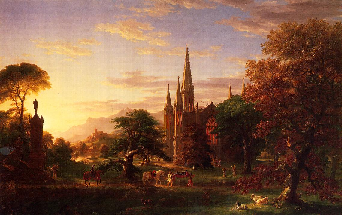 American Paint And Wallpaper Fall River The Return 1838 Thomas Cole Wikiart Org