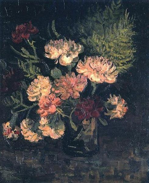 Vase House Doctor Vase With Carnations, 1886 - Vincent Van Gogh - Wikiart.org