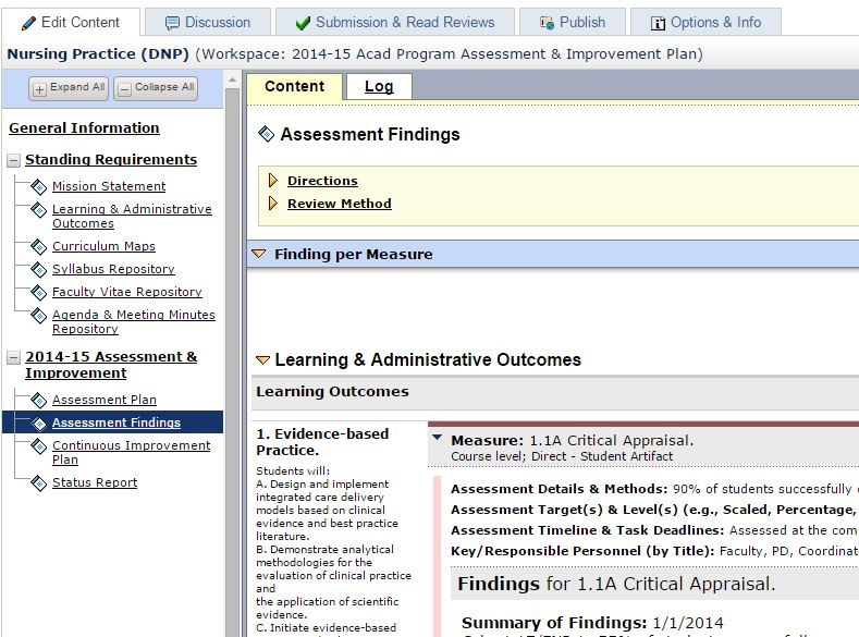 AMS Assessment \ Beyond (Not your mamau0027s accreditation tracker - sample assessment plan