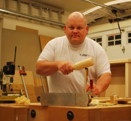 Picture of Matt from Upper Cut Woodworks at the Bench from fiverr.com