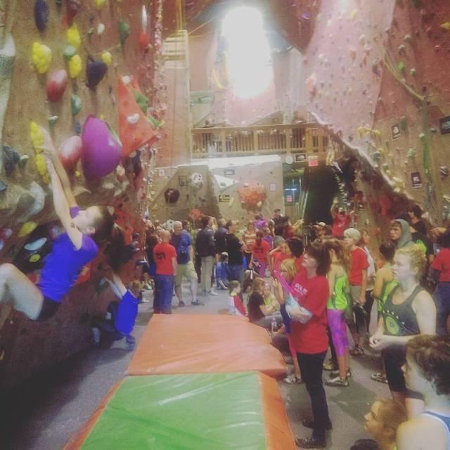 Gateway Bouldering Bash is in full swing! upperlimits bouldercomp rockclimbinghellip