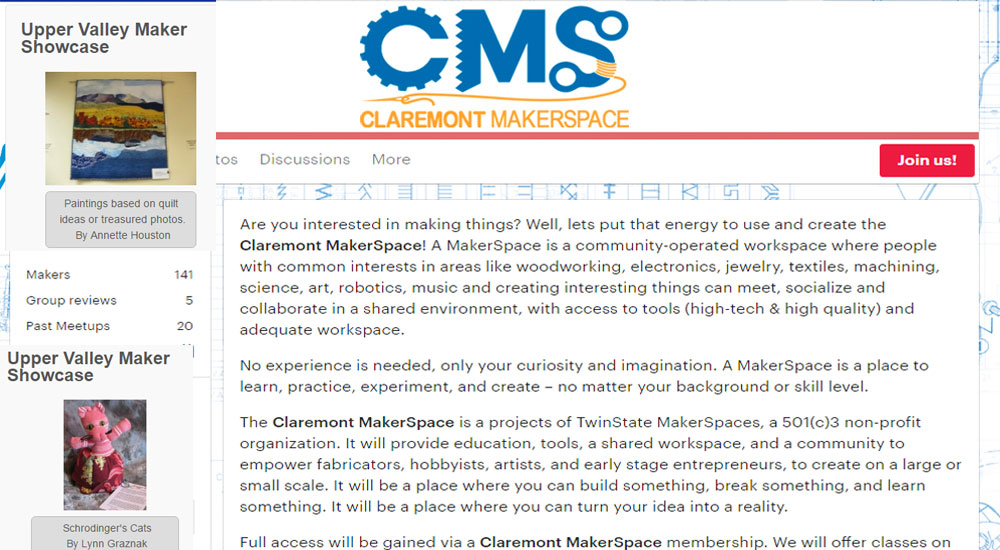 claremont and uppervalley makerspace