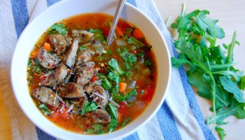 Brown Rice Minestrone Soup Uproot Kitchen