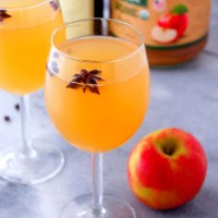 Spiced Apple Cider Mimosa