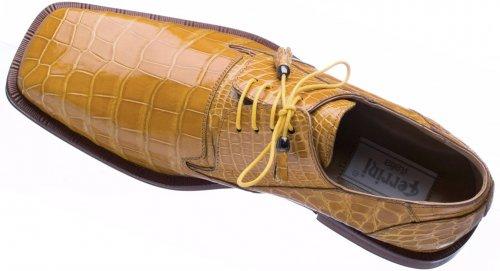 Ferrini 208 151 Camel Genuine Alligator Lace Up Shoes