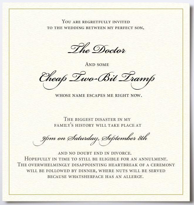 Wedding Invitation Wording \u2013