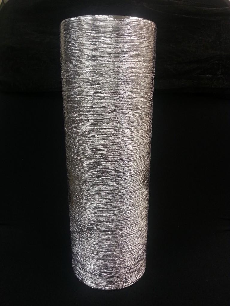 Centerpiece Cylinder Silver Small Uptown Rentals