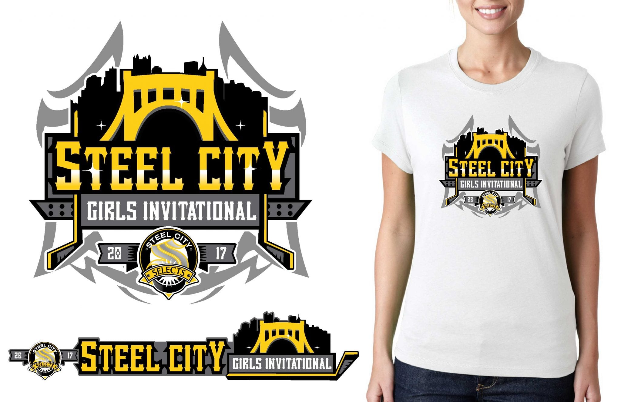 Hockey Logos Hockey Logo For Steel City Girls Invitational T Shirt Urartstudio